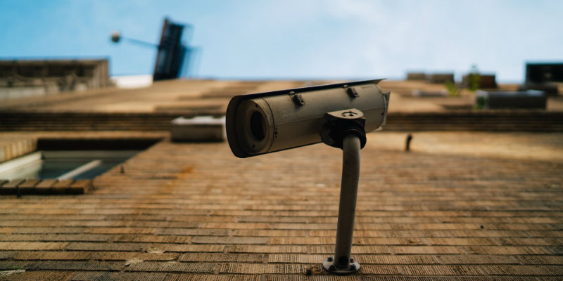 Conventional CCTV on a wall