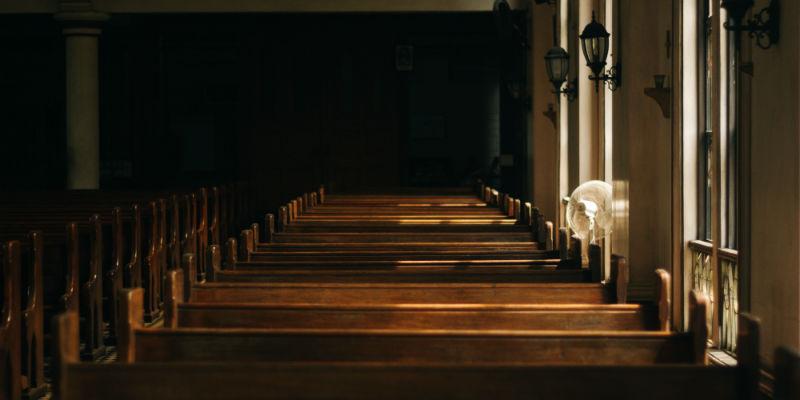 The interior of a church