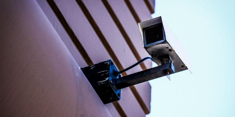 A CCTV security camera