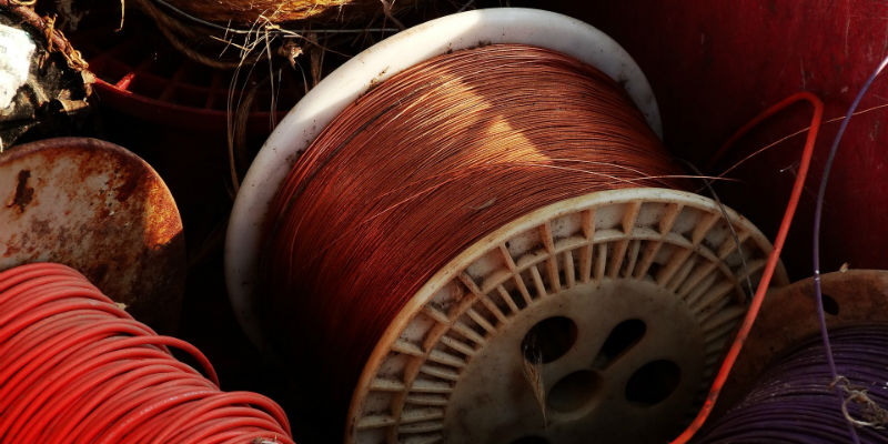 Copper wire coil