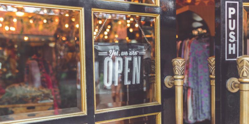 Retail store door security
